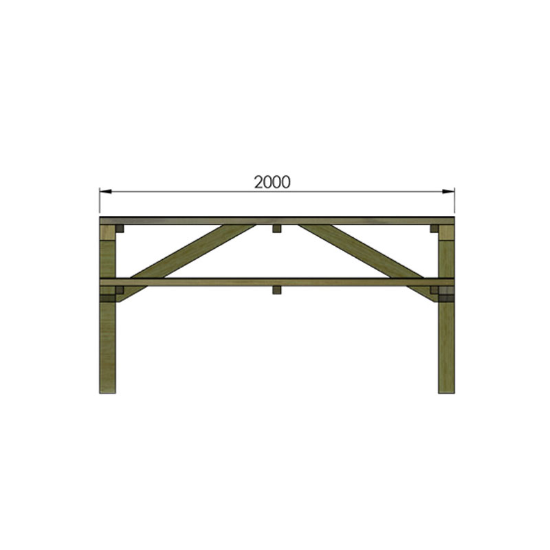 dimensions de la table en bois littoral