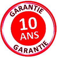 Table polypro en demi-lune garantie 10 ans